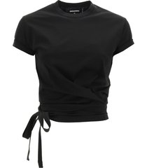 dsquared2 wrap-over t-shirt