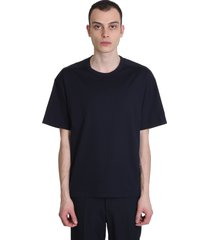 marni t-shirt in blue cotton and nylon