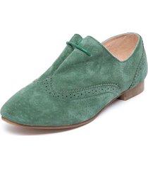 zapato oxford verde degas