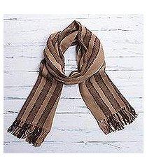 100% alpaca scarf, 'cinnamon chocolate' (peru)