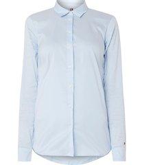 tommy hilfiger blouse 1m87647510893 heritage slim fit blauw