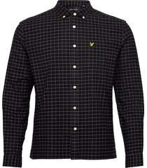 grid check shirt overhemd casual zwart lyle & scott