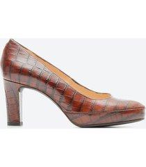 tacones casual mujer unisa shoes z099 marrón