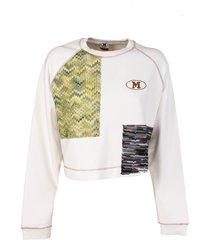 m missoni sweatshirt, white,