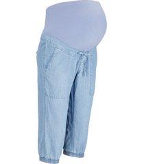 jeans capri prémaman in tencel™ lyocell (blu) - bpc bonprix collection