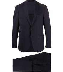 boss micro-patterned two-piece suit - blue