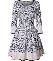 floral high waist mini dress