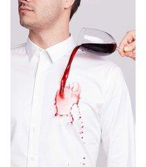 camisa business casual alta tecnología repele líquidos para hombre 03586