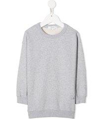 bonpoint embroidered cherry sweatshirt - grey