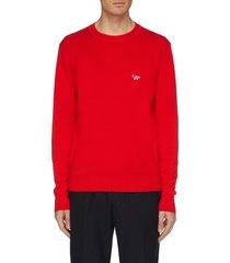 fox logo appliqué sweater