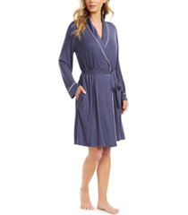 alfani piping-trim wrap robe, created for macy's