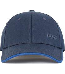 boss men's cap-x logo-print twill hat