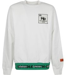 heron preston logo patched sweatshirt