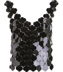 paco rabanne top with maxi sequins