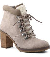 women's kensie atlanta block heel bootie, size 8 m - grey