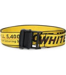 off-white adjustable industrial logo belt - yellow