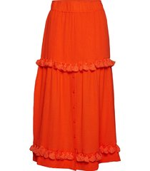 lila lång kjol orange rodebjer