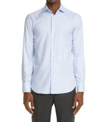 canali slim fit impeccabile dress shirt, size 15.5 in blue at nordstrom