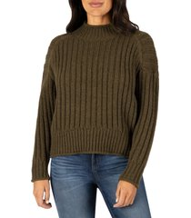 women's kut from the kloth hailee boxy sweater, size large - green