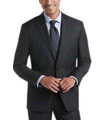 lauren by ralph lauren charcoal plaid classic fit suit