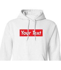 custom supreme style red box logo hoodie long sleeve shirt shirts hd01