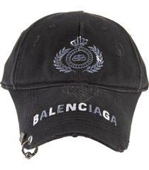 balenciaga woman black bb laurel baseball cap