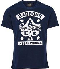 barbour t-shirt donkerblauw met opdruk