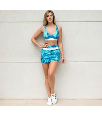 shorts-saia gut form fitness azul estampada