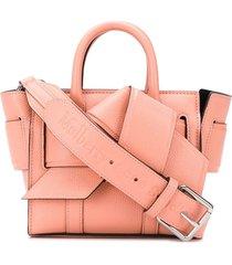 acne studios x mulberry micro musubi bayswater tote bag - pink