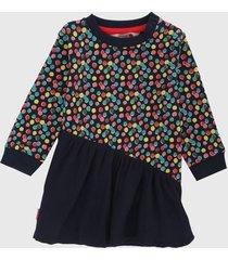 vestido azul-multicolor boboli