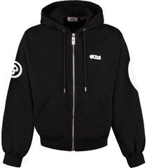gcds cotton full zip hoodie