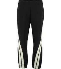 msgm track-pants with decorative stripes