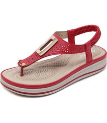 cómodas sandalias de cuña casuales para mujeres sandalias