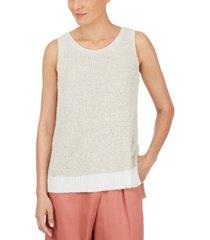 adyson parker textured sleeveless sweater