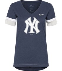 new york yankees nike mesh logo fashion vneck t-shirt t-shirts & tops short-sleeved blå nike fan gear
