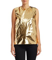 metallic sleeveless blouse