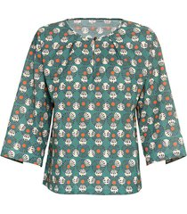 bedrukte blouse, zeegras-motief 40