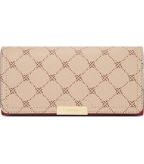 billetera file clutch kennedy nine west para mujer beige y rojo