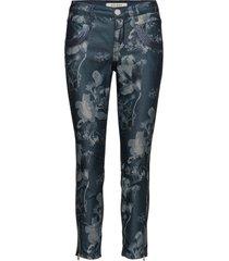 naomi glam flower 7/8 pantalon met rechte pijpen blauw mos mosh