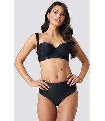 hannalicious x na-kd highwaisted front seam detail bikini pantie - black