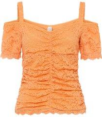 maglia con cut-out e pizzo (arancione) - bodyflirt boutique