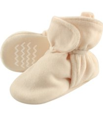hudson baby boys and girls cozy velour booties