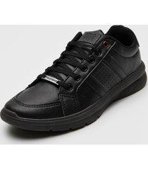 sapatãªnis polo wear recortes preto - preto - masculino - sintã©tico - dafiti