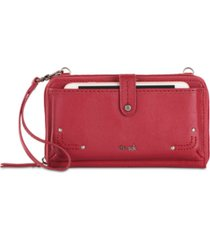 the sak women's iris smartphone leather crossbody wallet