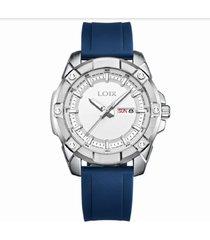 reloj loix hombre azulplatablanco ref l2111-3