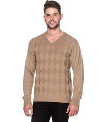 suéter passion tricot lk losango bege