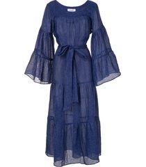 bambah tropical kaftan maxi dress - blue