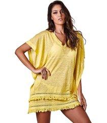 tunica empress brasil rustica linho amarelo