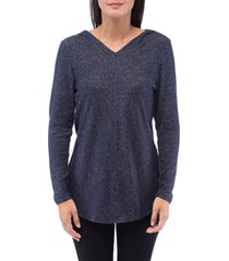 women's bobeau sweater hoodie, size x-large - blue