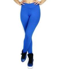 calça legging mvb modas cintura alta   azul